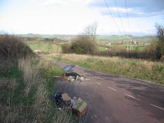 Fly tipping on Rock Road