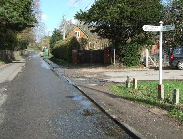 Road Junction at Landford