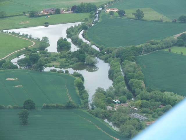 Pool Hall Fishery from the air
