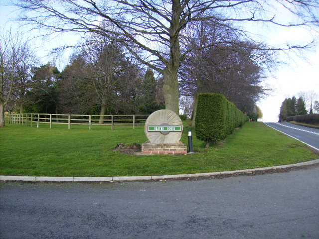 Driveway entrance to Heaton House