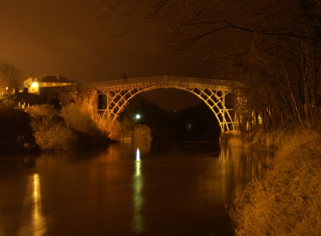 The Ironbridge at night