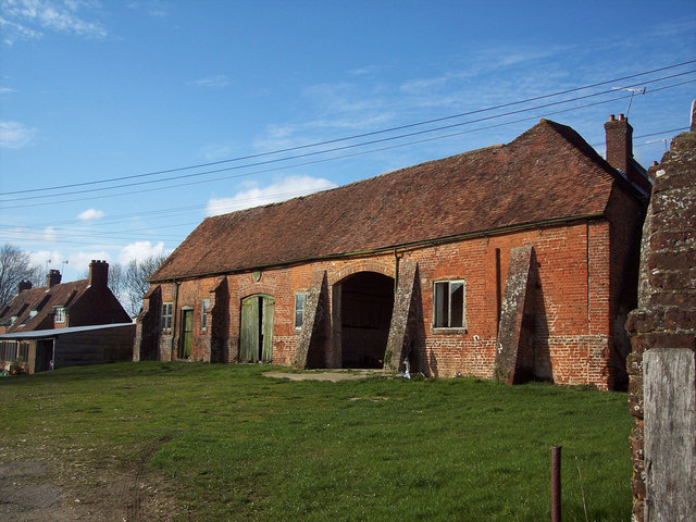 Brick built barn at Church Farm, West Dean
