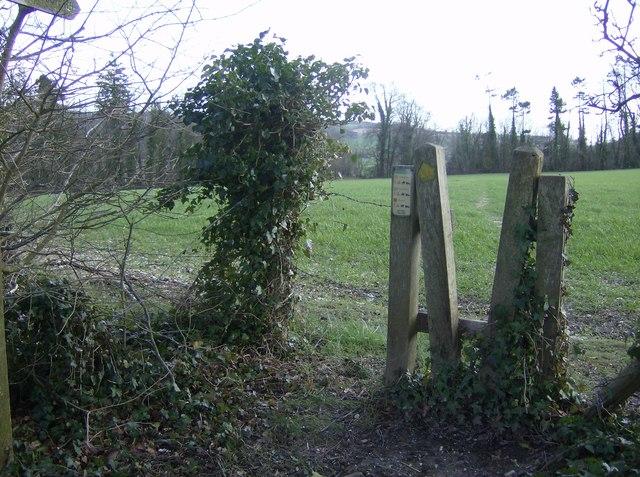 Footpath near Cowdown Farm