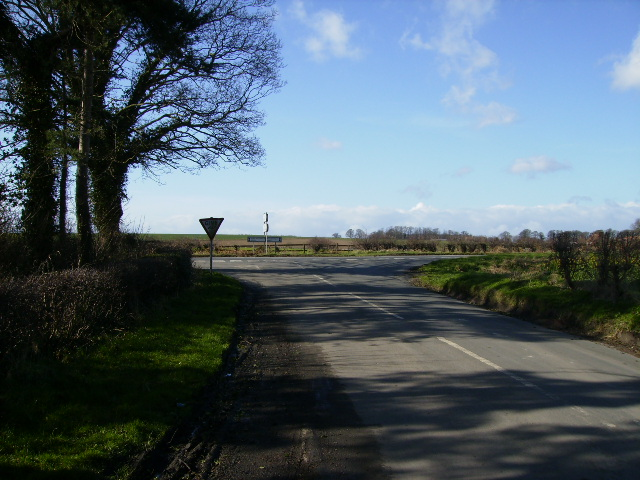 T junction with the B6265 at Ousebank Farm
