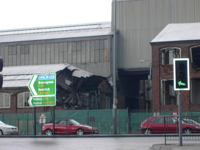 MGRover West Works Office wrecked