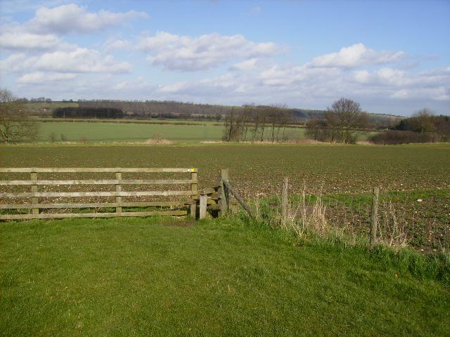 Footpath 1 Km west of Hovingham