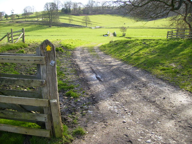 Footpath in Hovingham Park - seat of the Worsley family since 1563