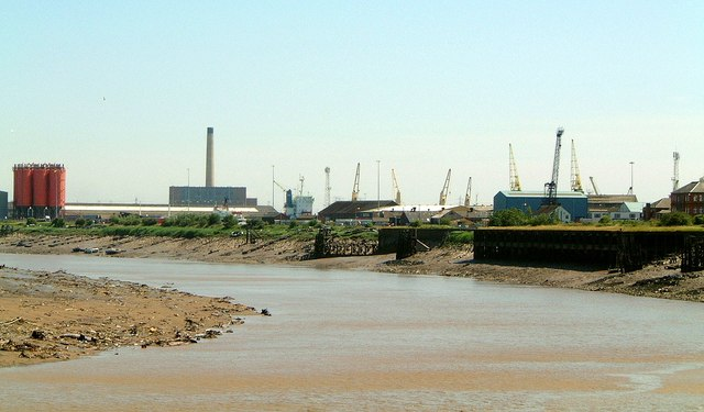 The River Usk side of Newport Docks