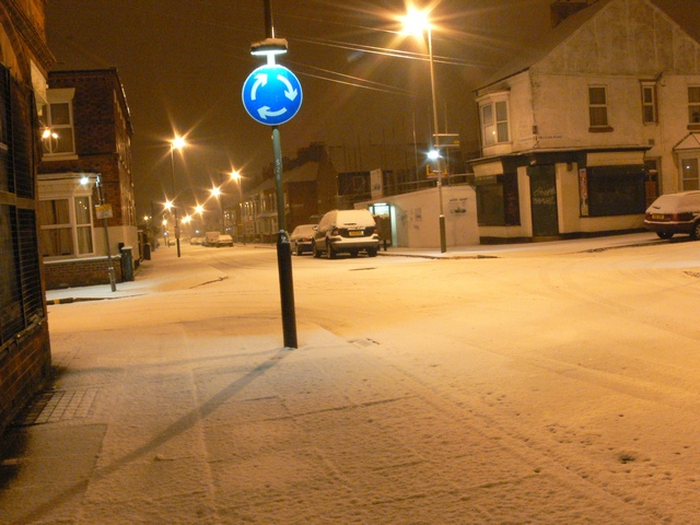 Duncan Road and Milligan Road in the snow