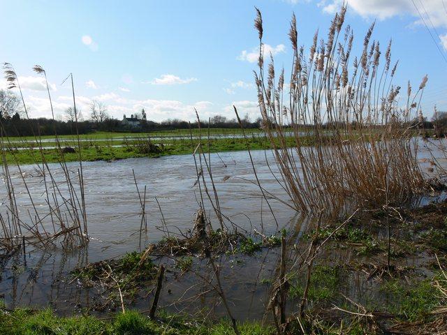 Flooded Aylestone Meadows.