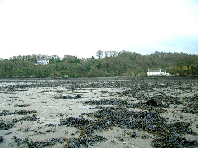 Derwen Deg and Gorad y Gyt at low tide