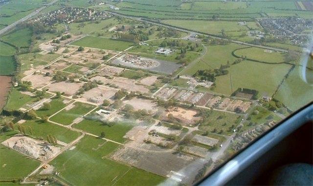 RAF Locking site after demolition