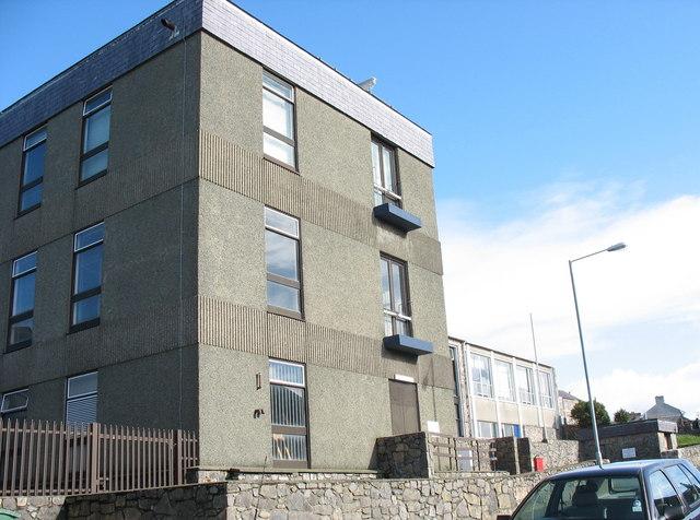 The Caernarfon telephone exchange
