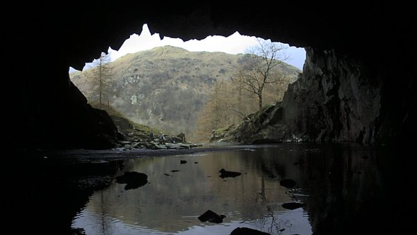 From inside Rydal Top Cave