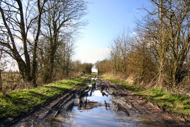 Muddy byway to Botesdale