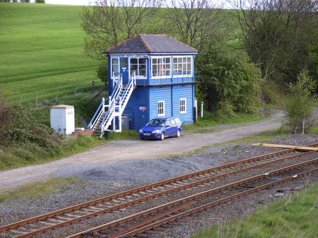 Oakenshaw North Junction Signal Box near Wakefield
