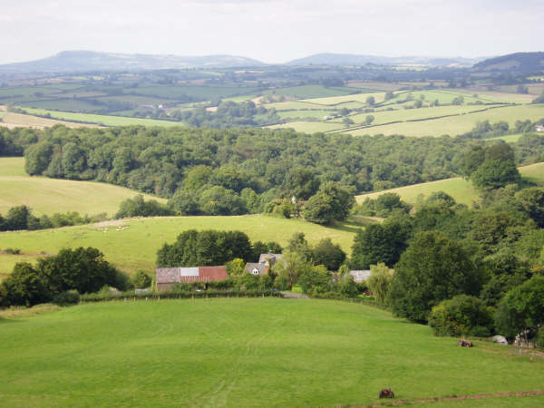 Looking North over Kilgwrrwg House