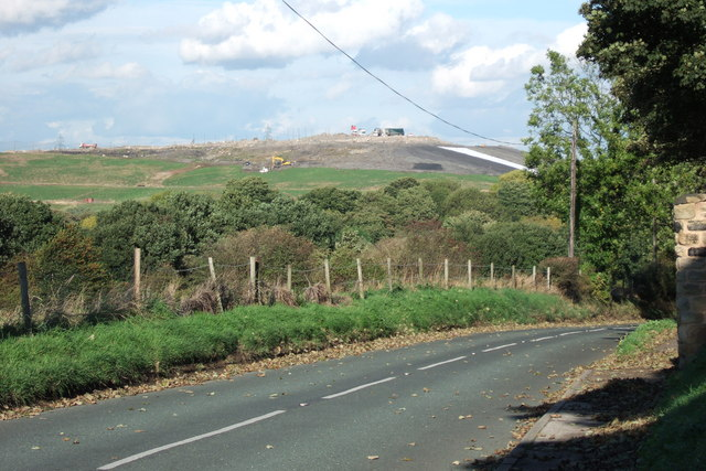 Welbeck Land-fill Site, from Kirktorpe Lane, Wakefield