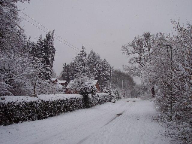 Winter on Heyford Hill Lane