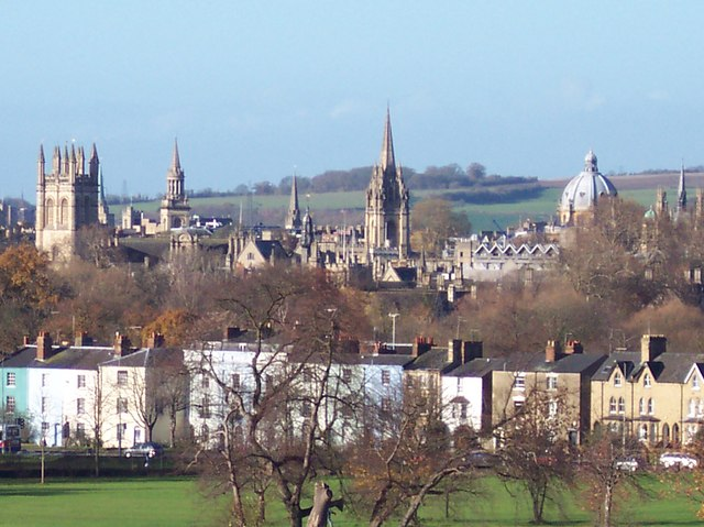 Oxford skyline from a distance