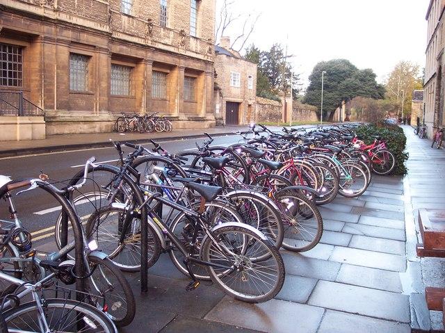Bikes outside The Kings Arms Pub
