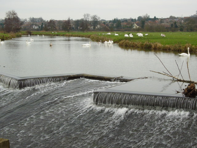 Weir on the River Stour, Sudbury Water Meadows