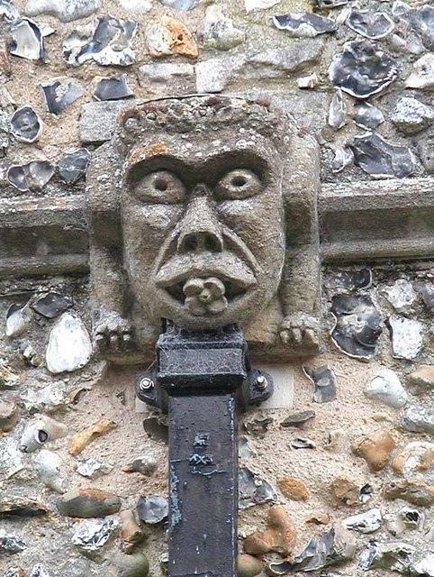 St Nicholas, Great Hormead, Herts - Gargoyle