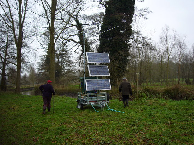 Solar Power Contraption by the River Colne