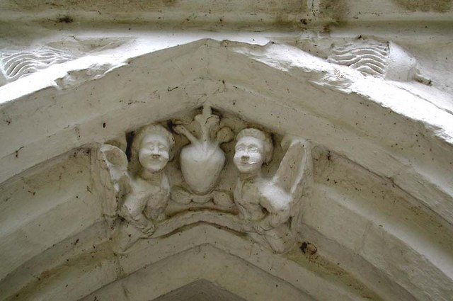 St Mary, Westmill, Herts - Porch detail