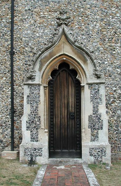 St Andrew & St Mary, Watton-at-Stone, Herts - Doorway