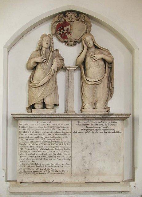 St Andrew & St Mary, Watton-at-Stone, Herts - Wall monument