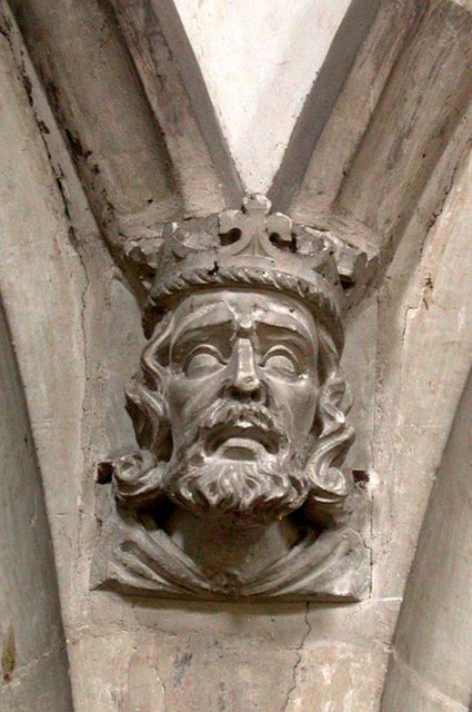 St Mary, Furneux Pelham, Herts - Label head