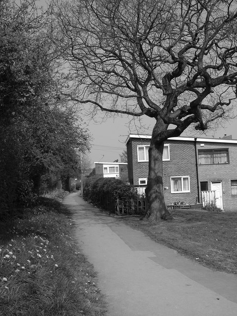 Path running from Ironside Road to Blackstock Road