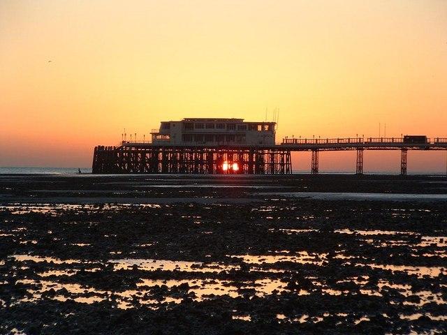 Sunset at Worthing Pier