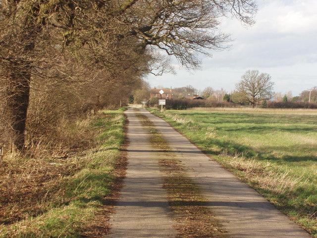 Private Road leading to Park Farm near Skelton, York
