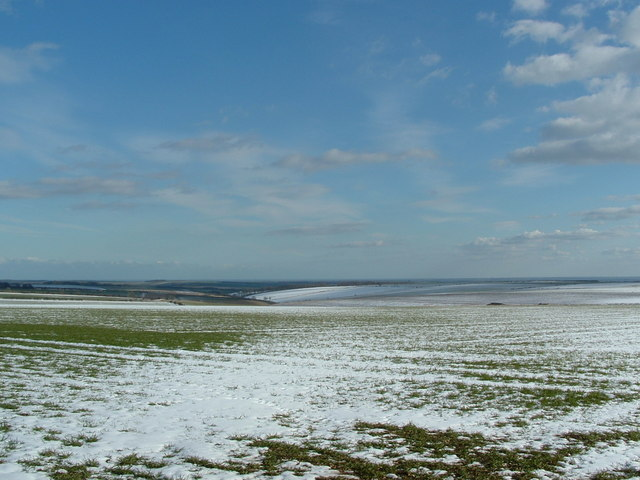 General view of the Wolds under snow SE of Octon cross roads