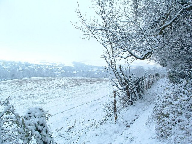 Snow over Findon Village
