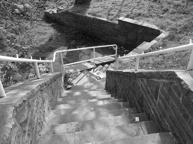 Steps leading down from Constable Road