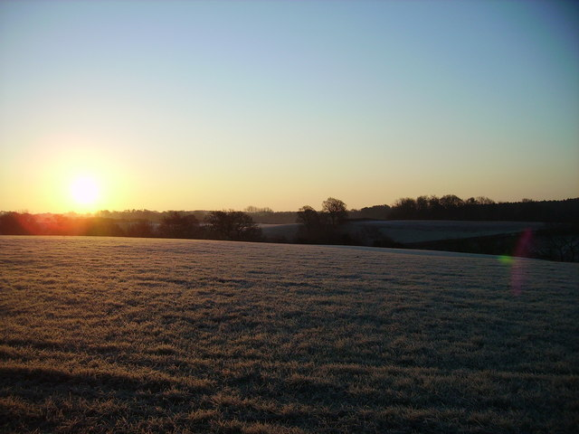 Sunrise over the fields by Post Office Lane