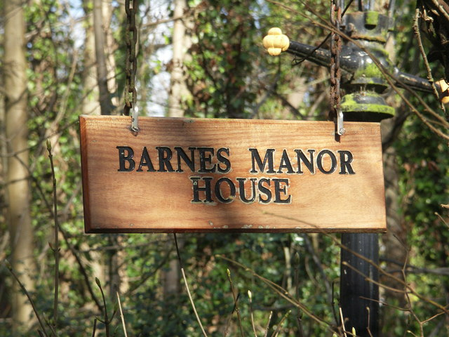 Barnes Manor House Sign