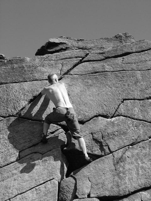 Rock Climbing on Burbage Rocks