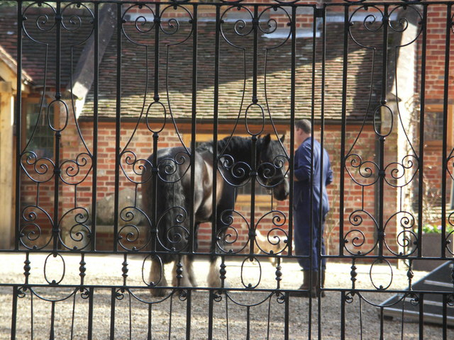 Gates guarding entrance to Barnes Manor