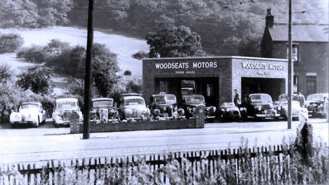 Woodseats Motors Circa 1950s Woodseats junction with Cobnar Road