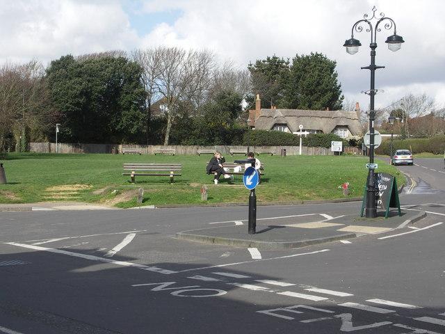 Milford on Sea village green
