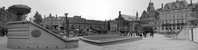 Sheffield Peace Gardens - Panoramic