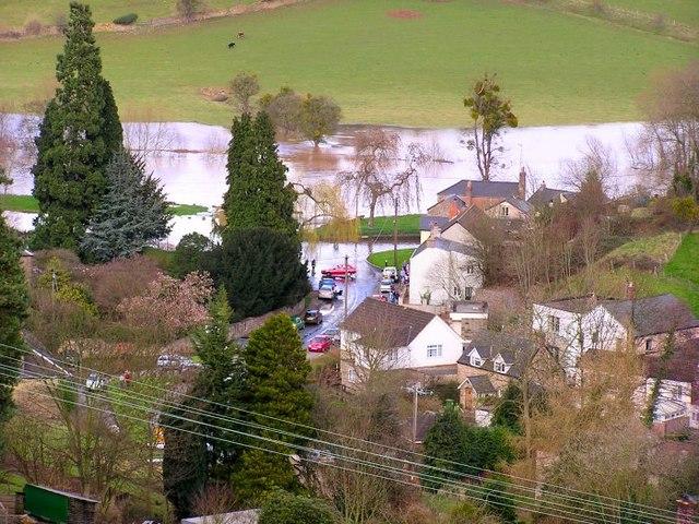 Flooded River Wye, Lower Lydbrook