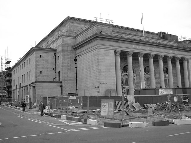 Sheffield City Hall - Barkers Pool During Refurb
