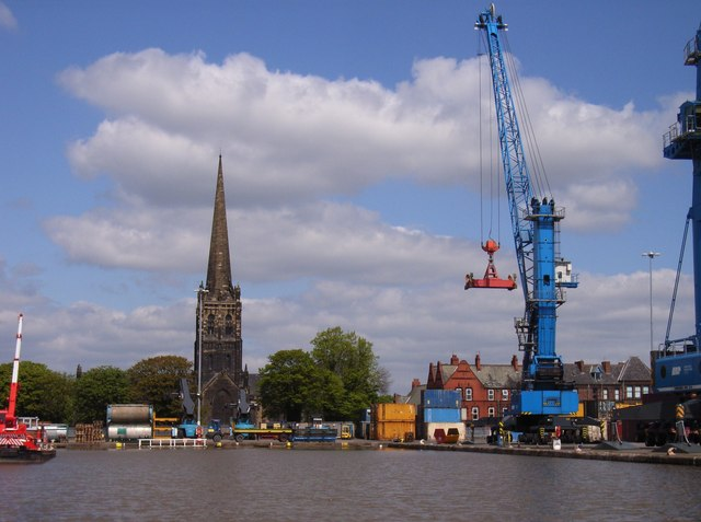 Goole Docks and Church