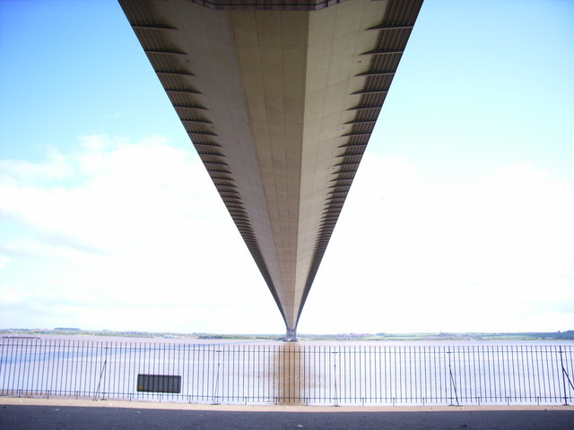 Under the Humber Bridge
