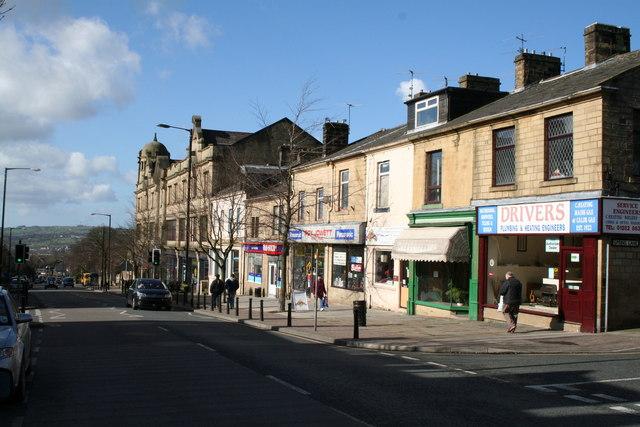 Albert Road and Municipal Hall, Colne, Lancashire